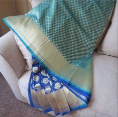 Half & Half Opara, Dehera  Silk katan by ZainabBoutique on Etsy