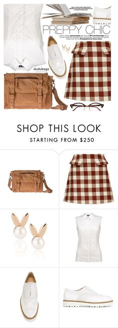 """Preppy Chic"" by pokadoll ❤ liked on Polyvore featuring Marni, Aamaya by priyanka, Hogan, Ray-Ban and dudubags"