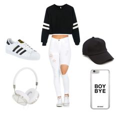 """""""Untitled #229"""" by journeycarothers on Polyvore featuring adidas, rag & bone and Frends"""
