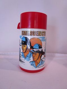 Vintage 1973 Emergency Metal Lunch Box & Thermos Set. Very Rare. FOR SALE • $69.95 • See Photos! Money Back Guarantee. This auction is for a pre-owned VINTAGE 1973 EMERGENCY METAL LUNCH BOX & THERMOS SETThis 1973 emergency TV series metal lunchbox with matching thermos bottle complete. It has substantial paint 222576086422