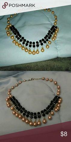 necklace pearl Tori black