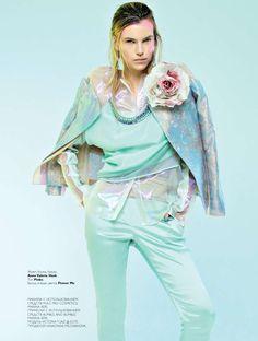 #pastel #editorial #fashion ------  Victoria Tuaz by Nikolay Biryukov---  Collezioni Russia- March 2013 | PhotographyNikolay Biryukov- StylingIrina Chernyak- ModelVictoria Tuaz  - Hair & Make UpMarina Keri- ProductionAnastasia Milovanova
