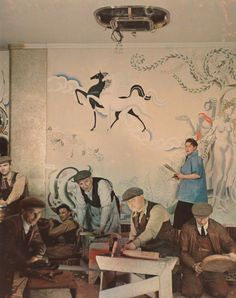 Anna Zinkeisen, Portrait painter and muralist. Photographed by Madame Yevonde, January 1936 - Vivex colour print.