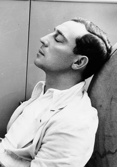 Buster Keaton at rest, October 1930
