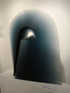 "glass sculpture by Libensky/Brychtova  title ""Arcus"", 1992-93"