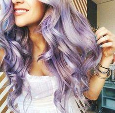 Curly platinum purle hair