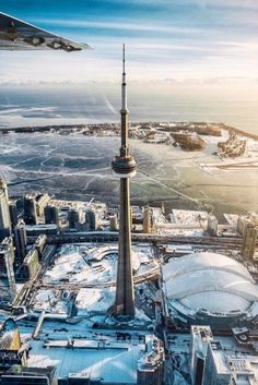 Winter flights over Toronto are pretty great. Hope you like this pic I took of the CN tower. Toronto Ontario Canada, Toronto City, Art Toronto, Toronto Photography, Lifestyle Photography, Canada Eh, Canada Goose, Winter Wallpaper, Travel Abroad