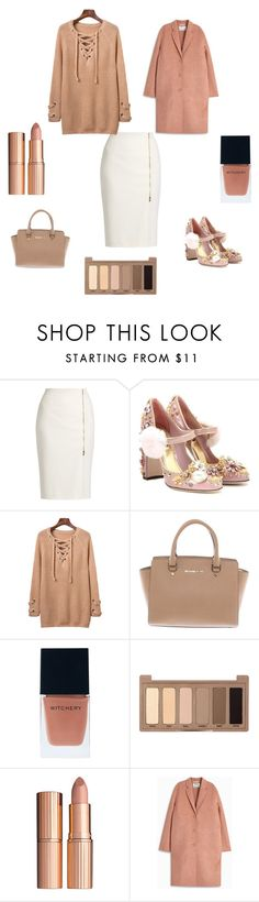 """Без названия #100"" by verest ❤ liked on Polyvore featuring MaxMara, Dolce&Gabbana, Michael Kors, Witchery, Urban Decay, Charlotte Tilbury and Acne Studios"