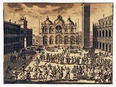 """Anonimo - """"Il Carnevale di Venezia"""" - Engraving - 1757"""