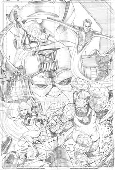 Fantastic Four and Galactus by Thegerjoos on deviantART