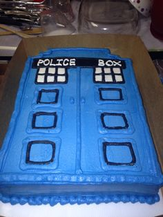TARDIS Cake Cake and Things made of Cake Pinterest Cakes and