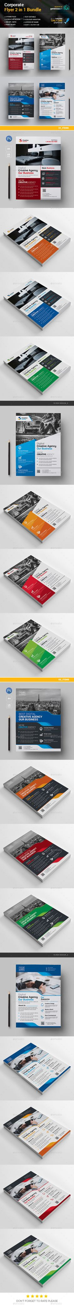 Flyer Template PSD Bundle 2 in 1