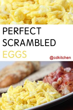 Perfect Scrambled Eggs - Change your breakfast, change your life. It should, because once you can make the perfect scrambled eggs you won't look back. This go-to recipe is Perfect Eggs Scrambled, Easy Scrambled Eggs, Mexican Breakfast Recipes, Breakfast Ideas, Breakfast Pizza, Breakfast Bowls, Eggs In Crockpot, Running Food, Egg Benedict