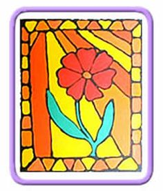 Create your own stained glass style painting with this easy to follow tutorial