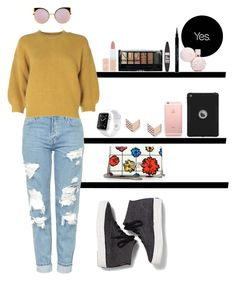 """""""Lounge"""" by vintigelovergirl ❤ liked on Polyvore featuring Topshop, 3.1 Phillip Lim, Keds, Moschino, FOSSIL, Apple, Fendi, Maybelline, Rimmel and Boohoo"""