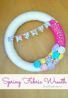 DIY Spring Fabric Wr