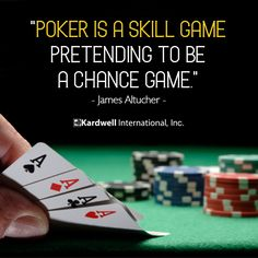 a5135fed To be successful, you have to know the difference! #PokerTips #SkillGame #