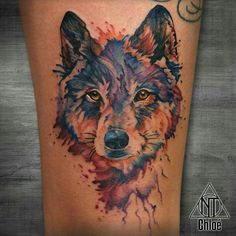 tattoo_watercolor_wolf_by_coconut_cocacola-da9py48.jpg (960×960)