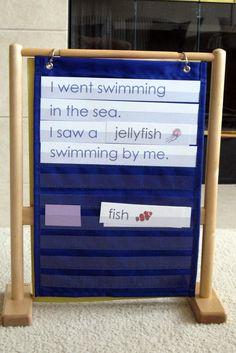 Cute idea for ocean unit and pocket chart or journal