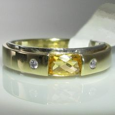 Citrine and Diamond Ring in Gold. The ring is currently size T but can be resized up or down, free of charge, as required by you. Gemstone Colors, Gemstone Rings, Galway Ireland, Van Cleef Arpels, Engagement Jewelry, Bangles, Bracelets, Cartier Love Bracelet, Diamond