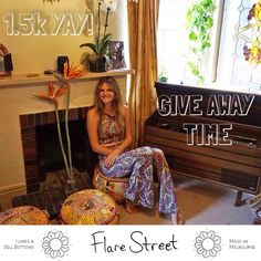 I'm over the moon with how many flare-lovers there are!  I started Flare Street in 2013 & am awestruck with the amount of supporters that have come on the journey with me. As a massive thanks let's do a giveaway  1) Tag a pal who you think would look awesome in a pair of flares  2) Tell them why you love his/her style  Enter as many times as you like & spread the flare-love!  The winner will get a pair of Selene flares (pictured) and will be announced this Sunday!