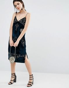 ASOS Petite | ASOS PETITE Velvet Cami Dress with Embellished Detail