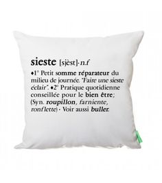 Coussin design La Sieste - Coussin Germain Sign O' The Times, Why Do Men, Eye Chart, Deco Originale, Home Textile, Silhouette Cameo, Decoration, Quotations, Relax