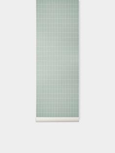 Grid Wallpaper - Dusty Green