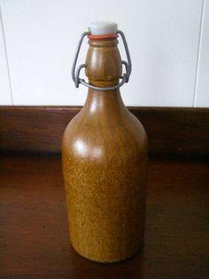 素朴な土器(陶器)のボトル 未使用アンティークSALE Antique pottery bottle ¥1800円 〆03月27日