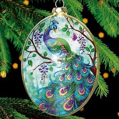 peacock egg decoration for easter or christmas - Peacock Christmas Decorations