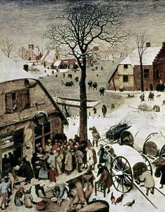 Census At Bethlehem - Detail by Bruegel The Elder, Pieter - Wall Art Giclee Print or Canvas