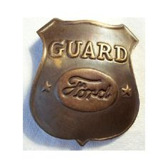 December 1, 1913 - Ford Motor Co. began using a new movable assembly line that ushered in the era of mass production. Which lead to badges like these in order to secure the large facilities and employees.