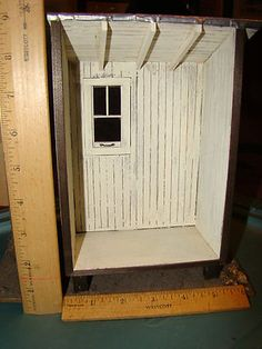"""Artisan""""Bill Fifer"""" Class Project from """"Noel Thomas"""" at The Guild School 1:12 scale roombox"""