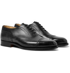 Oxford Brogues, Oxford Shoes, Trickers Shoes, Calf Leather, Black Leather, Hard Wear, Goodyear Welt, Fashion Advice, Bag Making