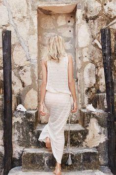 "Aerie ""K Ti Per Te Crochet Maxi Dress"""