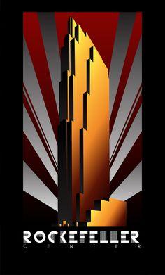 Art Deco posters celebrating the Big Three of Gotham City…