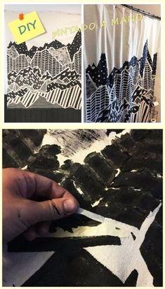 Crea tu propia cortina artística DIY
