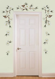 Magnolia & Birds Removable Wall Decals from Collections Etc.