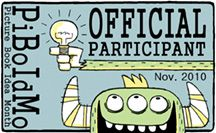Picture Book Idea Month (PiBoIdMo) happens every November! Create 30 PB ideas in 30 days with inspiration from picture book authors and illustrators.