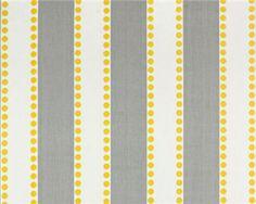 gray stripe with yellow dots - Lulu Storm Corn Yellow Twill