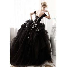 A black wedding gown for a strong empowering bride Wedding Robe, Black Wedding Gowns, Wedding Dresses Photos, Gothic Wedding, Tulle Wedding, Boho Wedding, Wedding Ideas, Wedding Inspiration, Cinderella Wedding