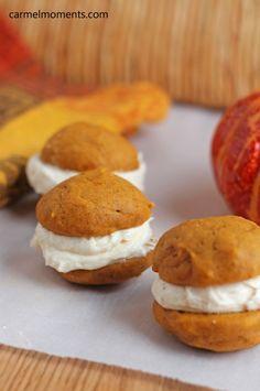 Pumpkin Whoopie Pies   carmelmoments.com/