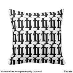 Decor Pillows, Decorative Pillows, Throw Pillows, Monogram Logo, Repeating Patterns, Black And White, Modern, Design, Fashion