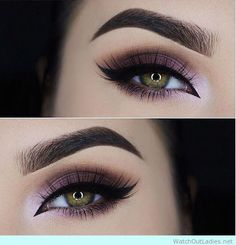 45 Purple eye makeup for green eyes for New Years Party