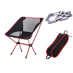 Ezyoutdoor Outdoor Ultralight Portable Folding Chairs with Carry Bag Heavy Duty Camping Folding Chair Red *** To view further for this item, visit the image link.(This is an Amazon affiliate link and I receive a commission for the sales)