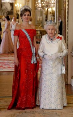 Tonight, King Felipe VI  and Queen Letizia of Spain are the guests of honour at a state banquet at Buckingham Palace.
