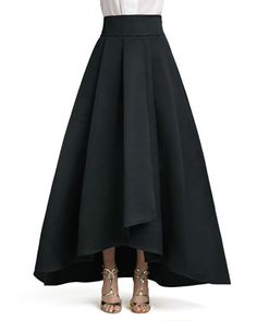 Duchesse Origami Ruffle Gown Skirt by St. John Collection at Neiman Marcus.