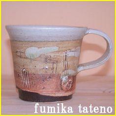 マグカップ/コーヒーカップ/和食器/笠間焼/陶器/舘野文香