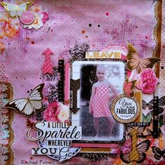 Designing team layout for Kaisercraft working with - All that Glitters range.... Rachael Funnell