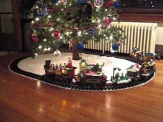Train Under The Christmas Tree